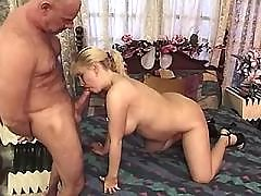 Preggo girl and lover make oral sex