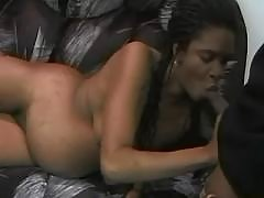 Pregnant ebony sucks chocolate cock